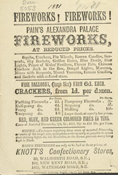 Advertisement for Pain's Fireworks